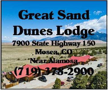 sand dunes lodge stationary ad